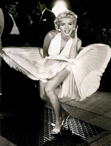 Marilyn Monroe wallpaper probably containing a park bench and a hip boot titled Ms.Marilyn Monroe