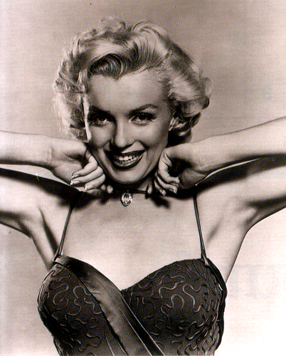 Marilyn Monroe karatasi la kupamba ukuta possibly containing a brassiere and a lingerie entitled Ms.Marilyn Monroe