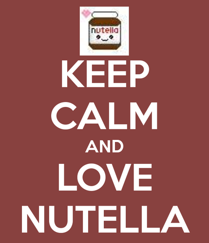 Nutella Hintergrund probably containing a no parking zone entitled NUTELLA!!!!!!!!!!!!
