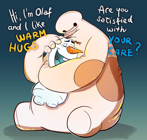 Olaf and Baymax