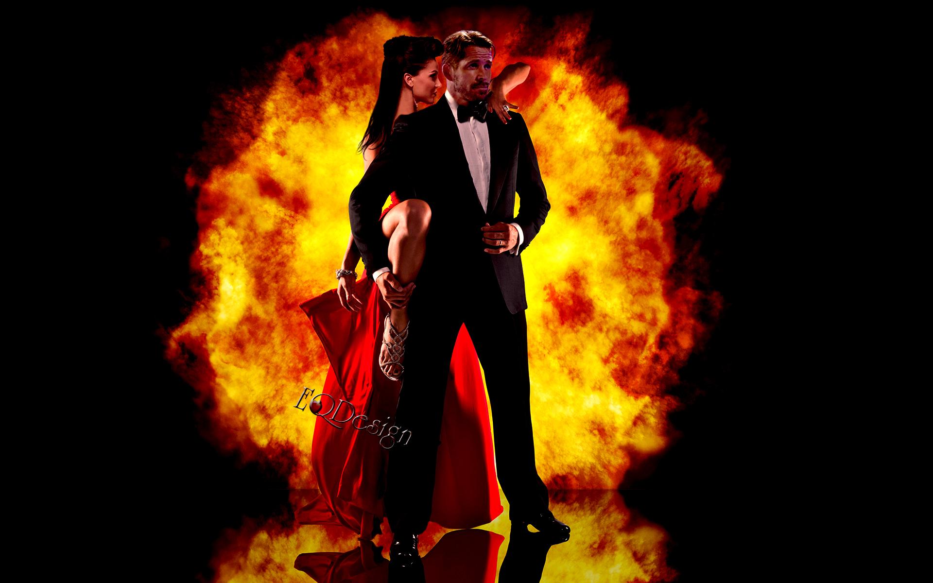 Outlaw Queen dancing tango