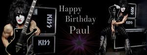 Paul Stanley FB birthday cover pics ~January 20, 1952