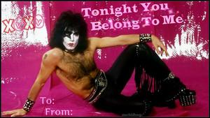 Paul Stanley Valentine KISS'es