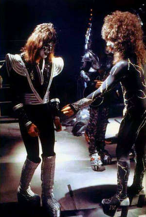 Paul Stanley and Ace Frehley 1978