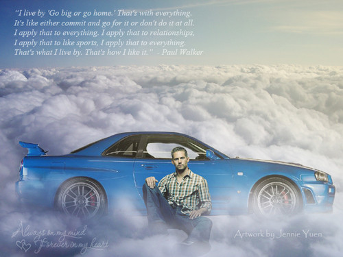 Paul Walker Wallpaper Containing A Sedan And Coupe Entitled Tribute Fan Art