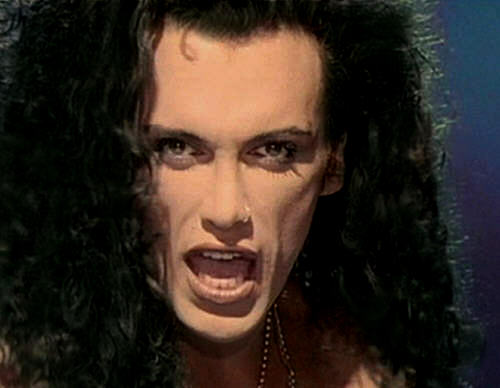 Dead oder Alive band Hintergrund probably containing a portrait entitled Pete Burns