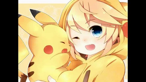 pikachu wallpaper entitled pikachu and pika girl