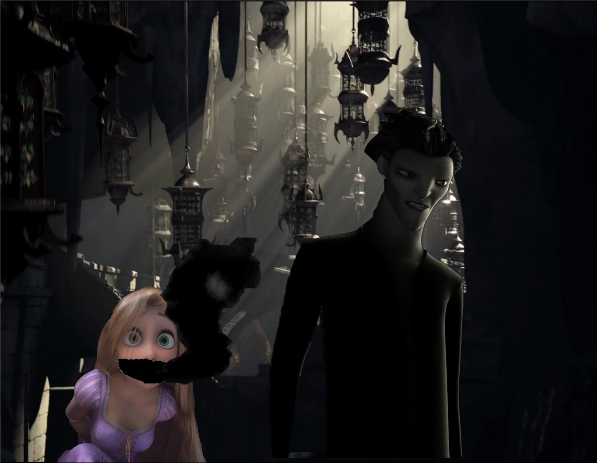 Pitch Black captures Rapunzel