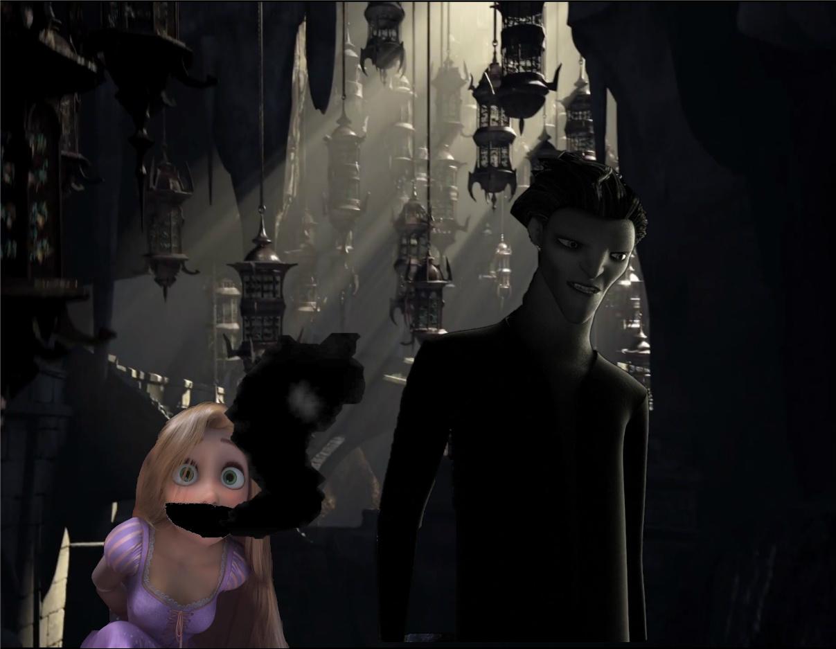 Pitch Black captures Rapunzel