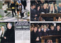 Princess Diana was pictured attending the funeral in Milan of fashion designer Gianni Versace