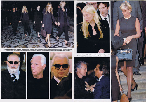 다이애나 왕세자비 바탕화면 probably containing a business suit called Princess Diana was pictured attending the funeral in Milan of fashion designer Gianni Versace