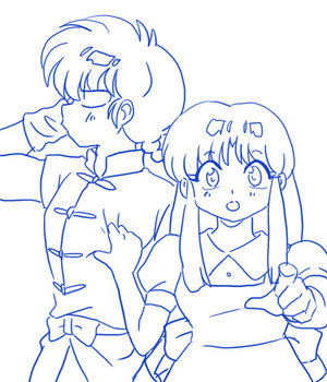 Ranma and Akane 乱あ _(らんま½ 天道あかね) (란마 ½ 텐도 아카네)