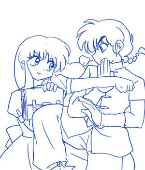 Ranma and Akane 乱あ_(らんま½ 天道あかね) (란마 ½ 텐도 아카네)