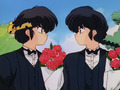 Ranma and Ryoga (rivals for Akane's heart)