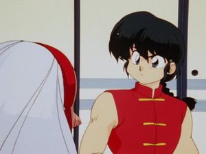 Ranma talking with Cologne