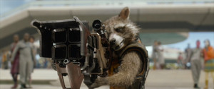 Rocket Raccoon with his Gun