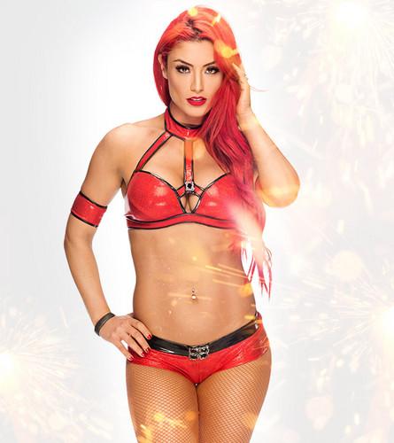 WWE Divas پیپر وال probably containing a bikini and a swimsuit کا, سومساٹ entitled Royal Rumble Ready - Eva Marie