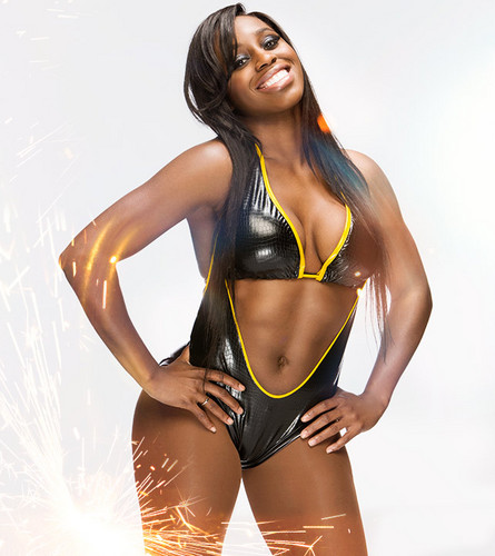 WWE Divas wallpaper probably containing a bikini and a swimsuit called Royal Rumble Ready - Naomi