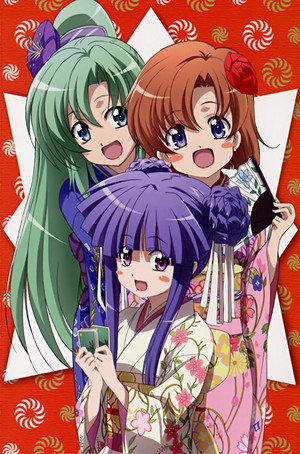Ryuugu Rena, Sonozaki Mion, and Furude Rika