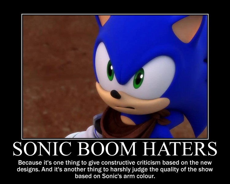 SONIC BOOM HATERS!