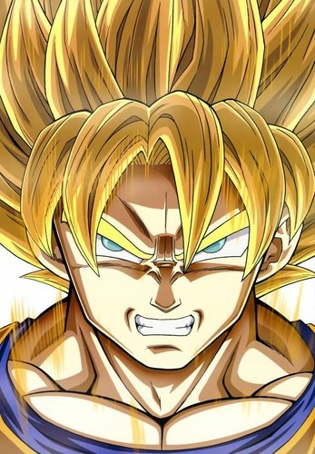 Dragon Ball Z karatasi la kupamba ukuta entitled SSJ Son Goku