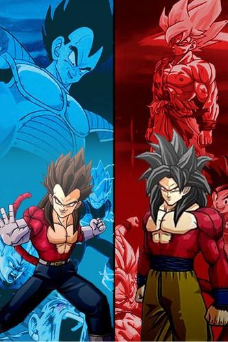 Dragon Ball Z fond d'écran containing animé called SSJ4 Goku and vegeta