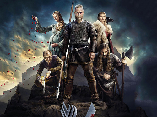 Vikings (TV Series) wolpeyper possibly with a horse trail and a green birete called Season 2 wolpeyper