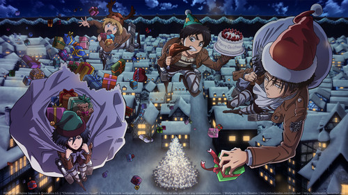 Shingeki no Kyojin (Attack on titan) wallpaper possibly containing anime entitled Shingeki no Kyojin CHRISTMAS!~