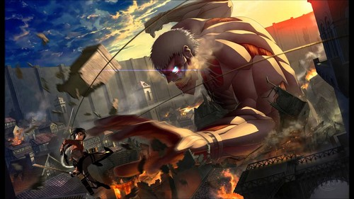 Shingeki no Kyojin (Attack on Titan) Hintergrund entitled Shingeki no Kyojin!~
