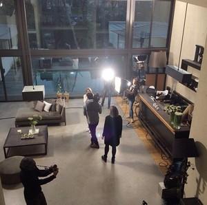 Shooting new photoshoot for Biotherm (Paris, Jan 19)