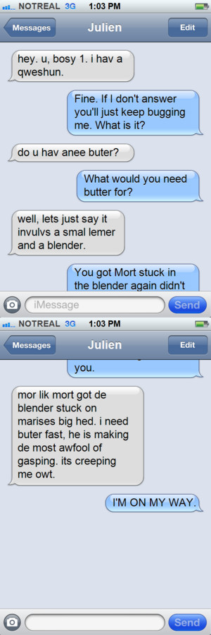 Skipper and Julien iPhone text-Accident