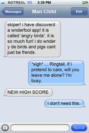 Skipper and Julien iPhone text-New App