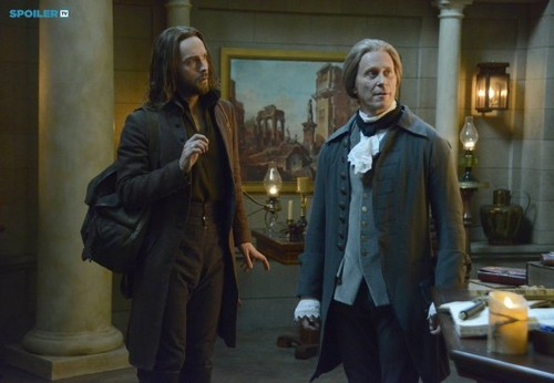 Sleepy Hollow (TV Series) karatasi la kupamba ukuta containing a business suit and a well dressed person called Sleepy Hollow - Episode 2.16 - What Lies Beneath - Promo Pics