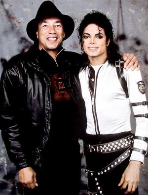 Smokey Robinson and Michael Jackson