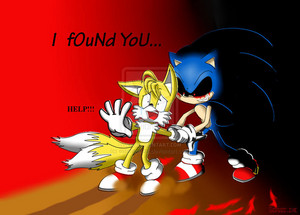 Sonic.exe and Tails :3