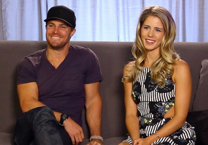 Stephen Amell and Emily Bett Rickards