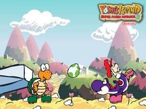 Super Mario Advance 3: Yoshi's island वॉलपेपर