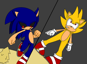 Super Sonic VS Sonic.exe :3