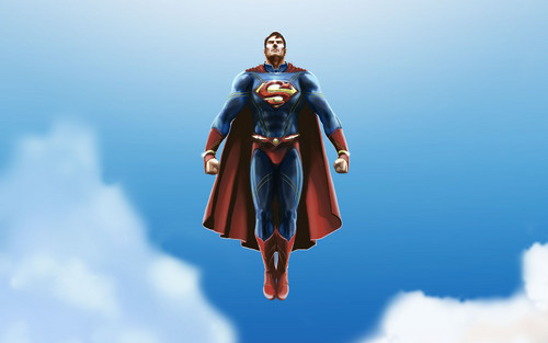 Superman Hintergrund called Superman - Fanart