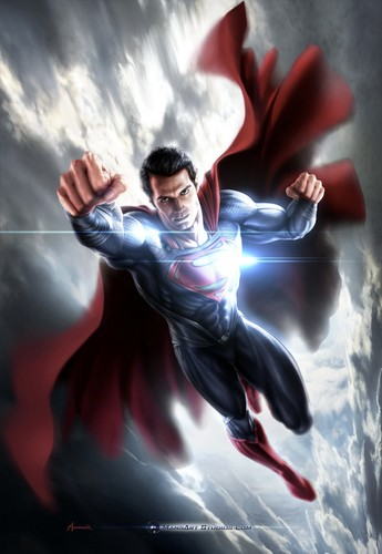 Superman kertas dinding titled Superman - Man of Steel