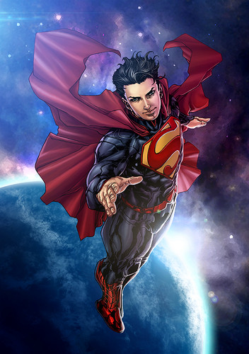 Superman wallpaper probably containing Anime entitled Superman - New 52 fan Art