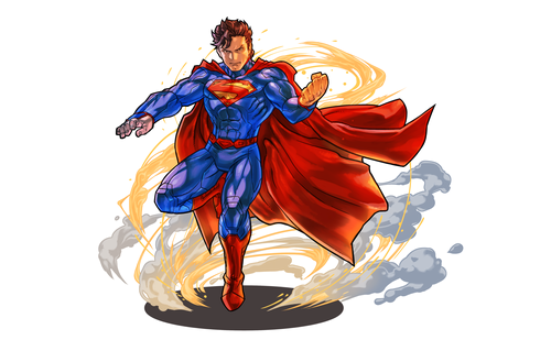 Superman wallpaper probably containing a bouquet called Superman - Puzzle and Draghi