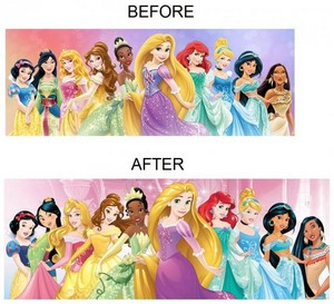The 디즈니 Princesses - Before and After