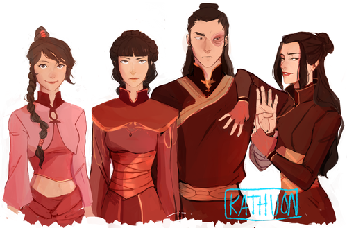 avatar - La Leyenda de Aang fondo de pantalla titled The fuego Crew All Grown Up