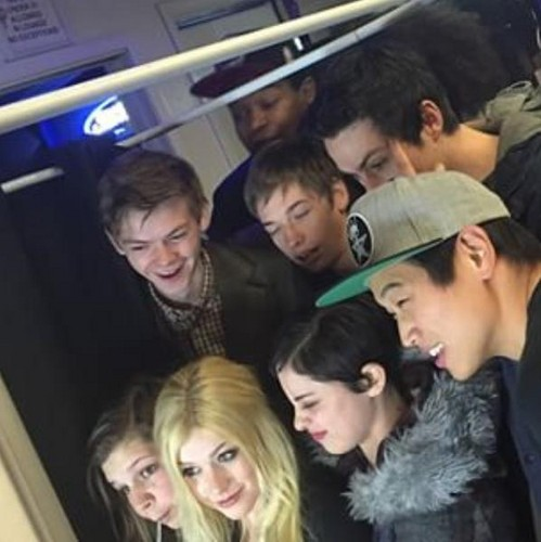 The Maze Runner fond d'écran titled The Scorch Trials' emballage, wrap Party