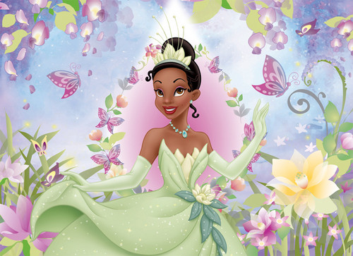 The Princess and the Frog wallpaper with a bouquet titled Tiana
