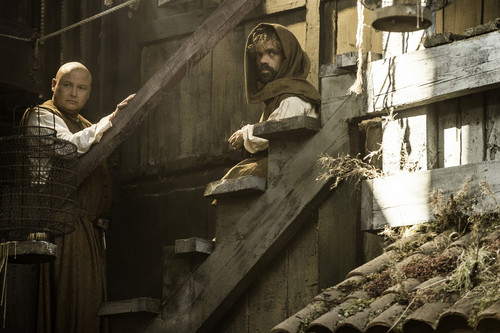 Tyrion Lannister wallpaper possibly containing a lumbermill entitled Tyrion Lannister and Varys