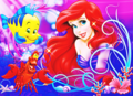 Walt Disney Images - Flounder, Sebastian & Princess Ariel - walt-disney-characters photo