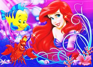 Walt Disney afbeeldingen - Flounder, Sebastian & Princess Ariel