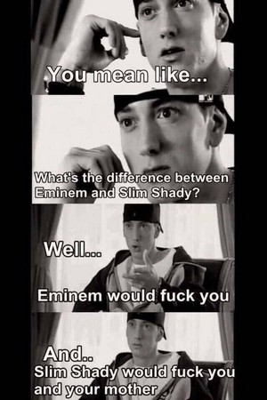 What's the difference between Eminem and slim shady?